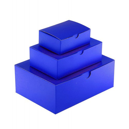 Indigo Blue Rectangle Gloss Laminated Gift Boxes - 1 Piece