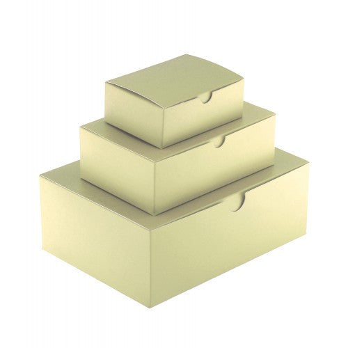 Ivory Rectangle Matt Laminated Gift Boxes - 1 Piece