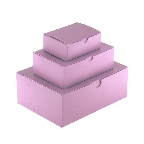 Light Pink Rectangle Gloss Laminated Gift Boxes - 1 Piece