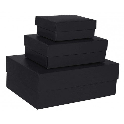 Black Rectangle Matt Laminated Gift Boxes - 2 Pieces