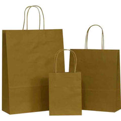 Natural Brown Carrier Bags with Twisted Handle
