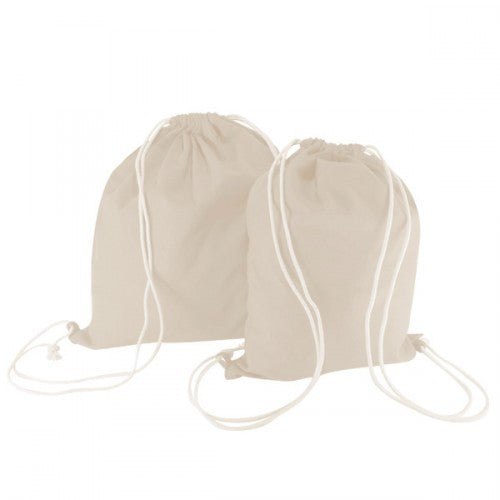 Plain Natural Canvas Backpack Bags