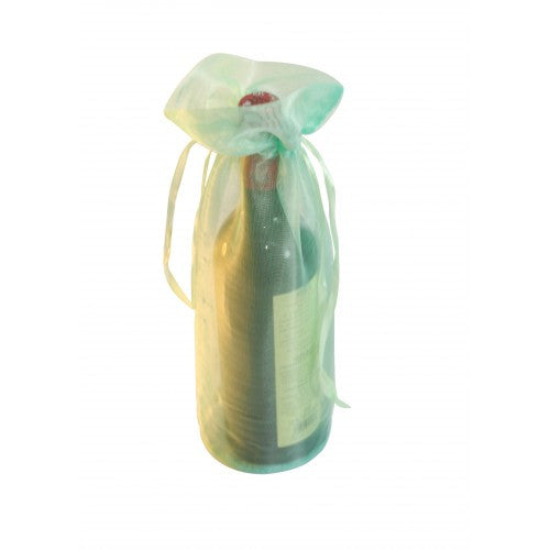 Olive Darb Organza Bottle Drawstring Bags