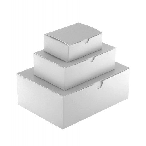 White Rectangle Gloss Laminated Gift Boxes - 1 Piece