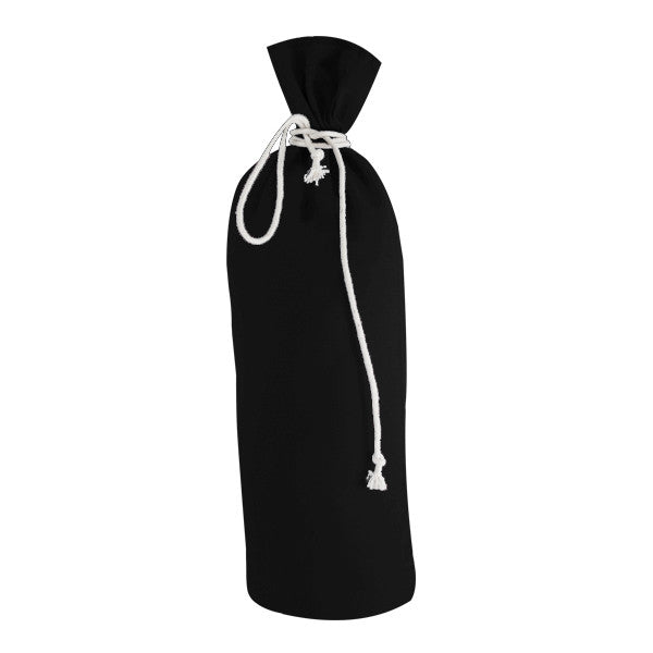 Black Canvas Bottle Drawstring Bags - Shop Online at Wholesale Price from PicoBags