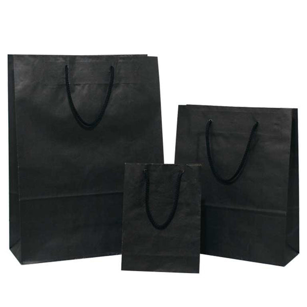 black carrier bags