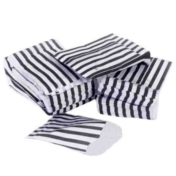 Buy black candy stripe paper bags at Wholesale from PicoBags