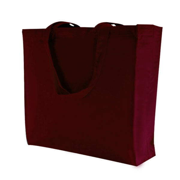 Burgundy Canvas Bags with Gusset