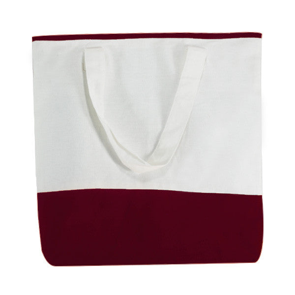 White Burgundy Canvas Dualtone Bags