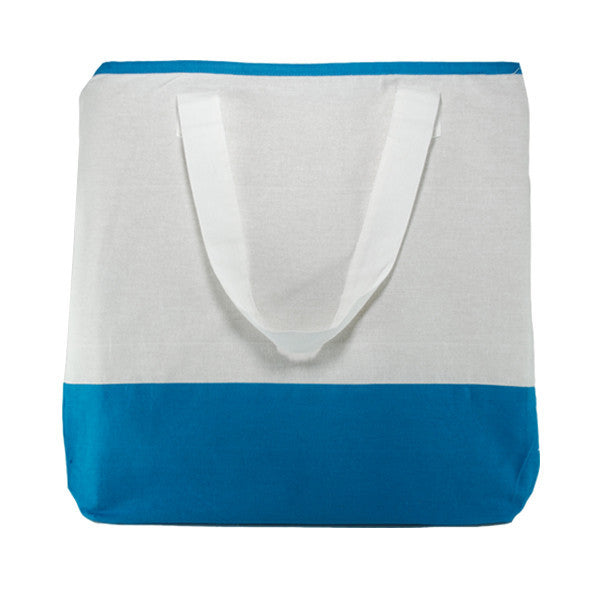 White Dark Blue Cotton Two Colour Bags