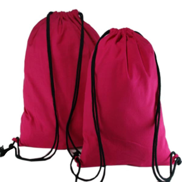 Fuchsia Cotton Backpack Bags
