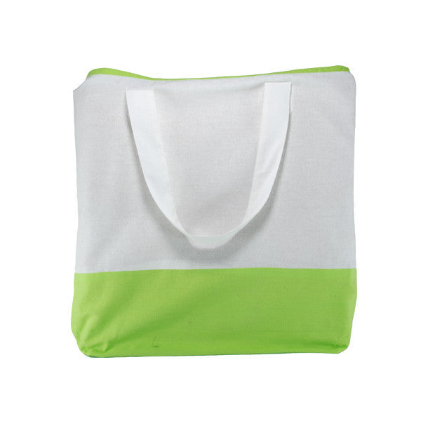 White Green Cotton Two Colour Bags