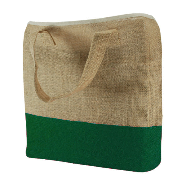 Natural Green Jute Two Colour Bags