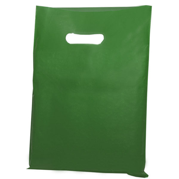 Harrods Green Plastic Carrier Bags