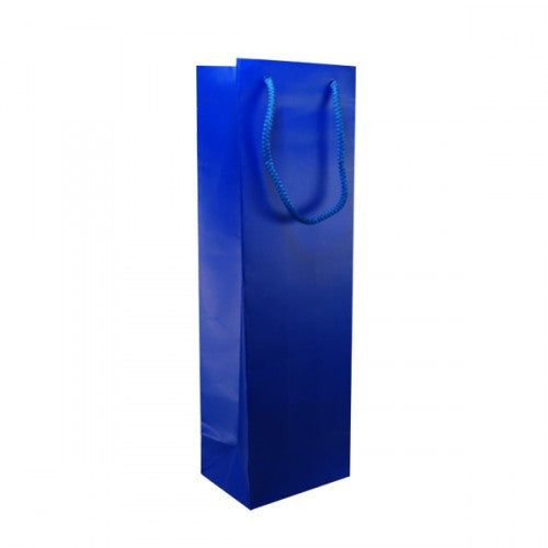 Solid Indigo Blue Matt Laminated Bottle Bags