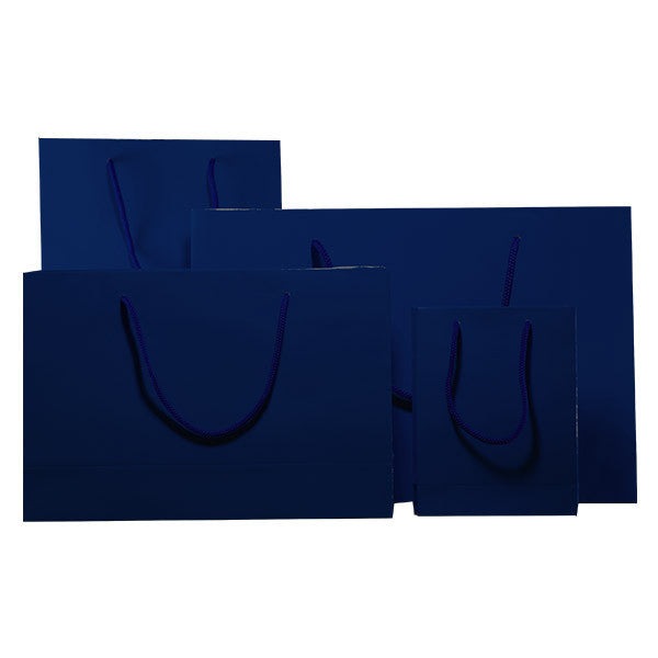 Indigo Blue Gloss Laminated Carrier Bags with Rope Handle