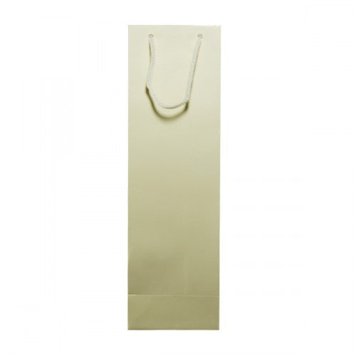 Solid Ivory Gloss Laminated Bottle Bags