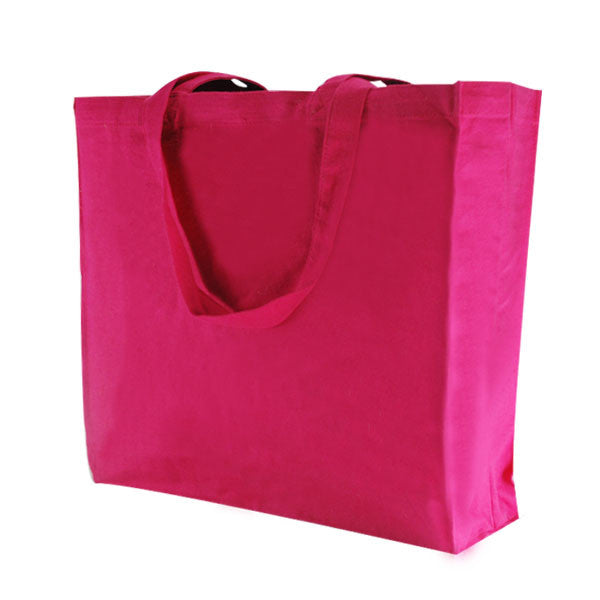 Fuchsia Canvas Bags with Gusset