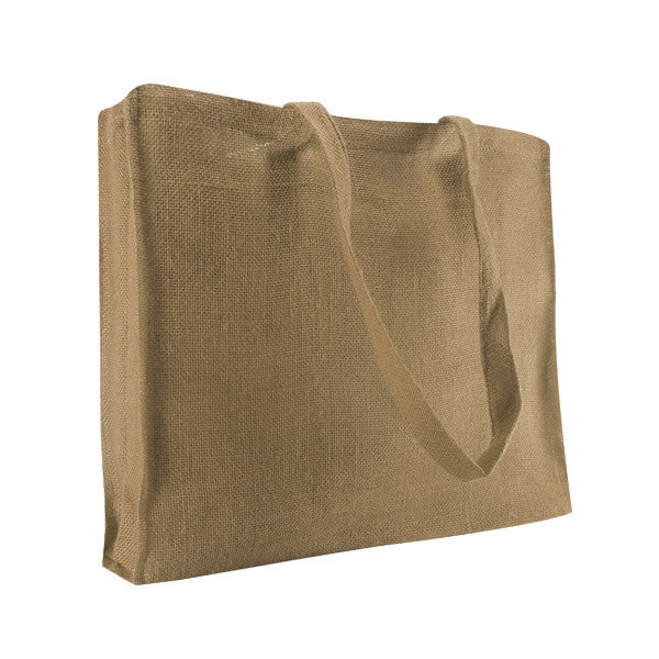 Plain Natural Jute Gusset Bags