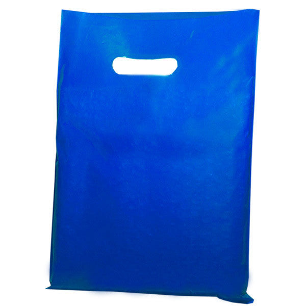 Navy Blue Plastic Carrier Bags