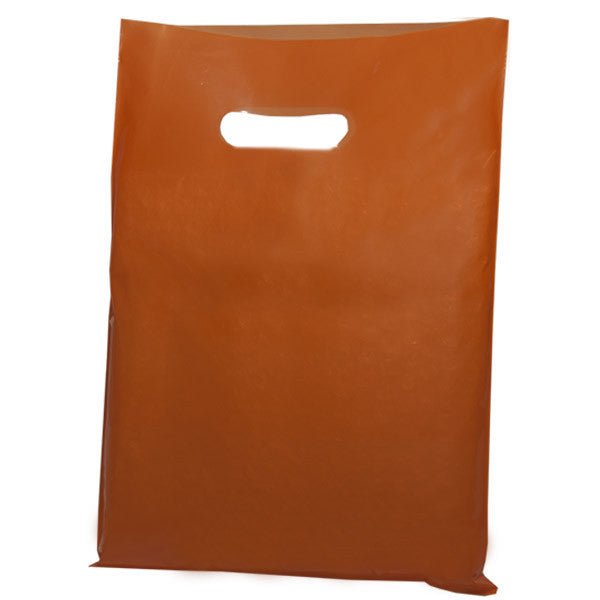 Orange Plastic Carrier Bags