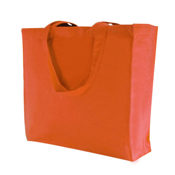Orange Canvas Bags with Gusset