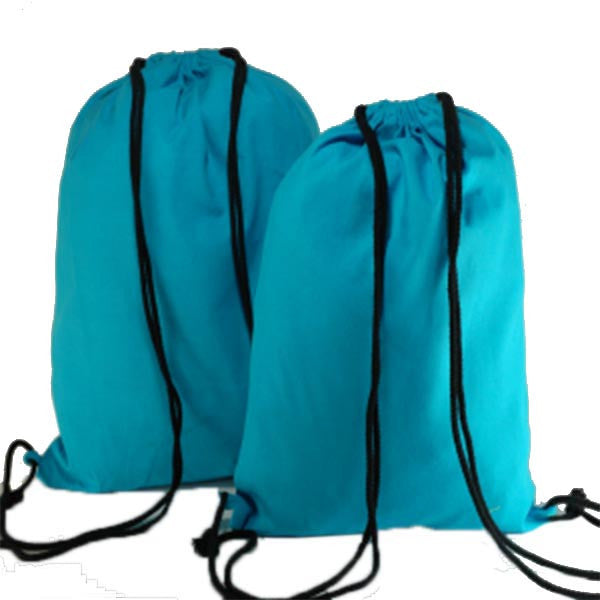 Turquoise Blue Cotton Backpack Bags