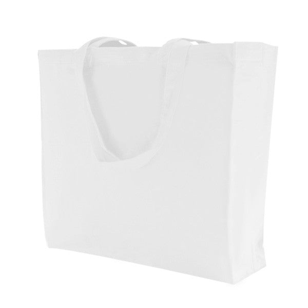 White Canvas Bags with Gusset