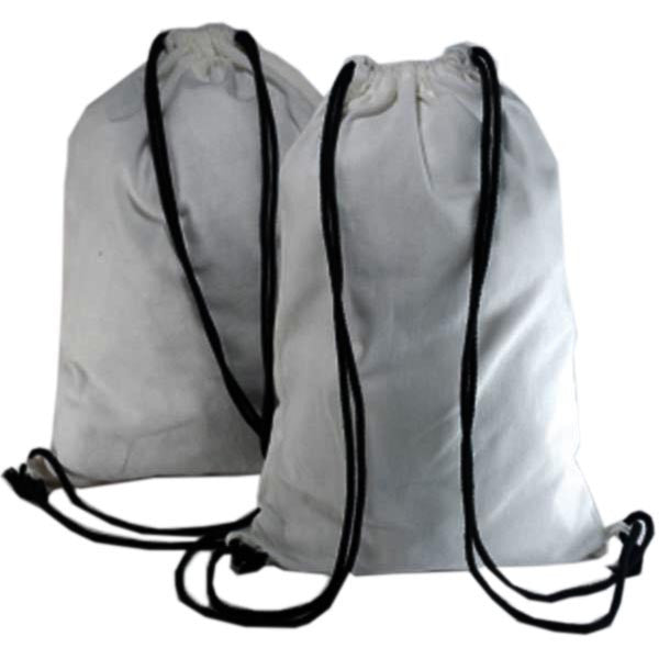 White Cotton Backpack Bags