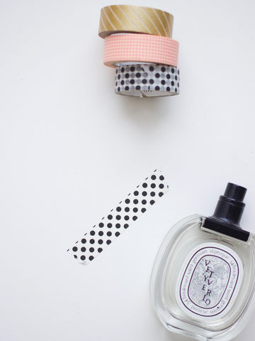 Black Polka Dot Washi Tape