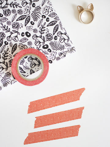 Red Pattern Washi Tape.