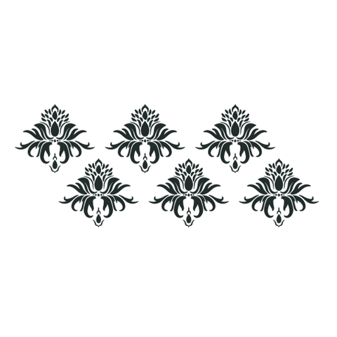NCS-138 Multiple Leaf Damask stencil