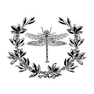 NCS-136 Dragon fly & Laurel stencil
