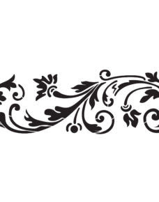 NCS-148 Blossoming Scroll  stencil