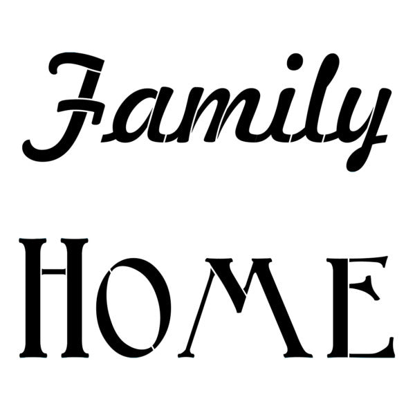 NCS-163 Family Home  stencil - medium size