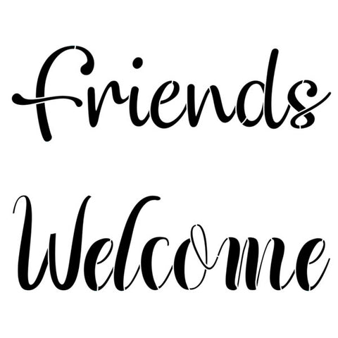 NCS-160 Friends & Welcome  stencil - small size