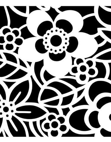 NCS-150 Graphic Flowers stencil