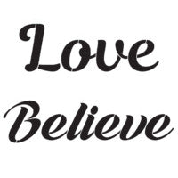 Love Believe stencil