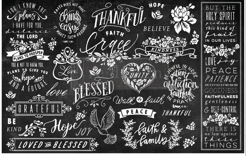 Prima Redesign Decor Tissue - Thankful & Blessed II