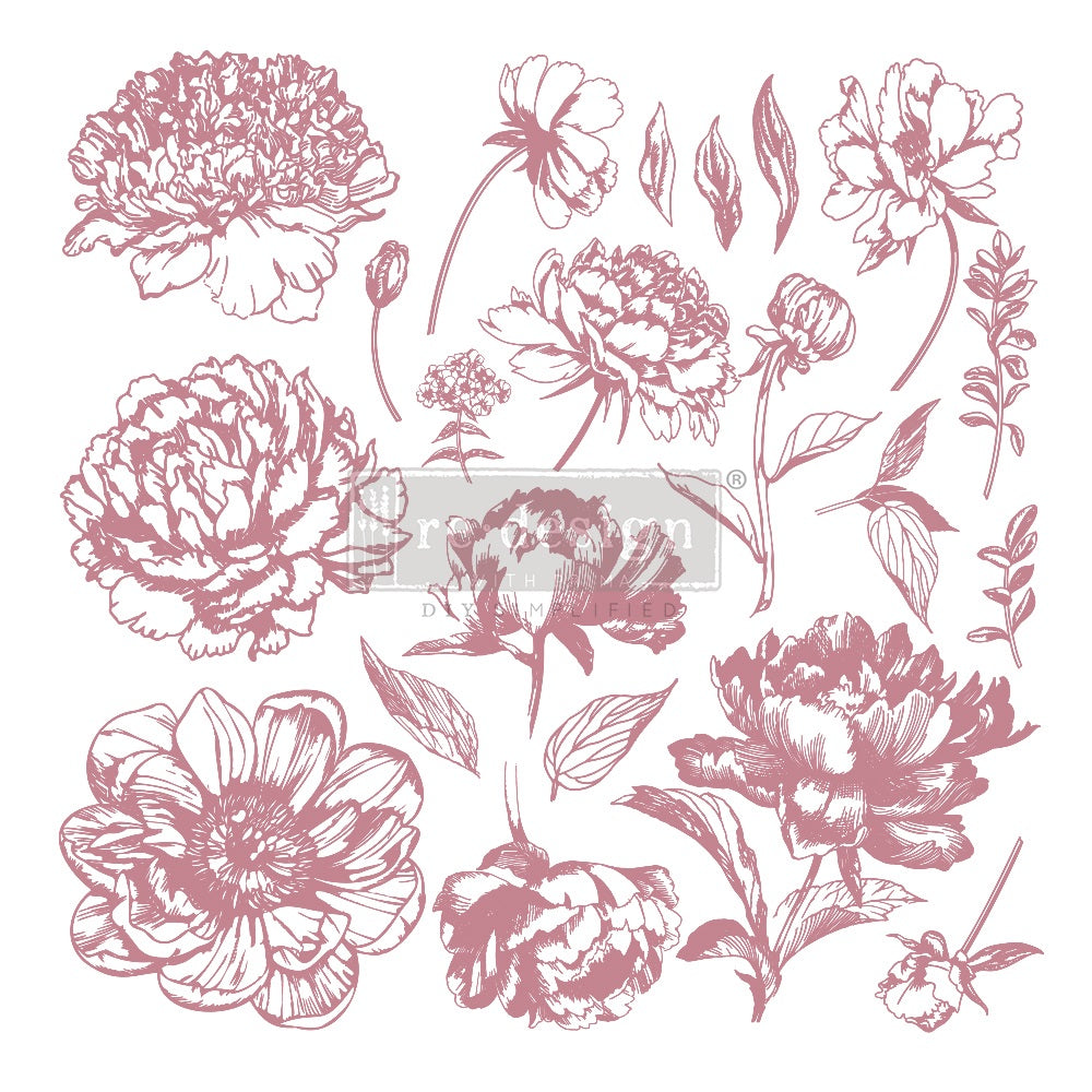 Prima redesign Clear-Cling Stamps - Linear Floral