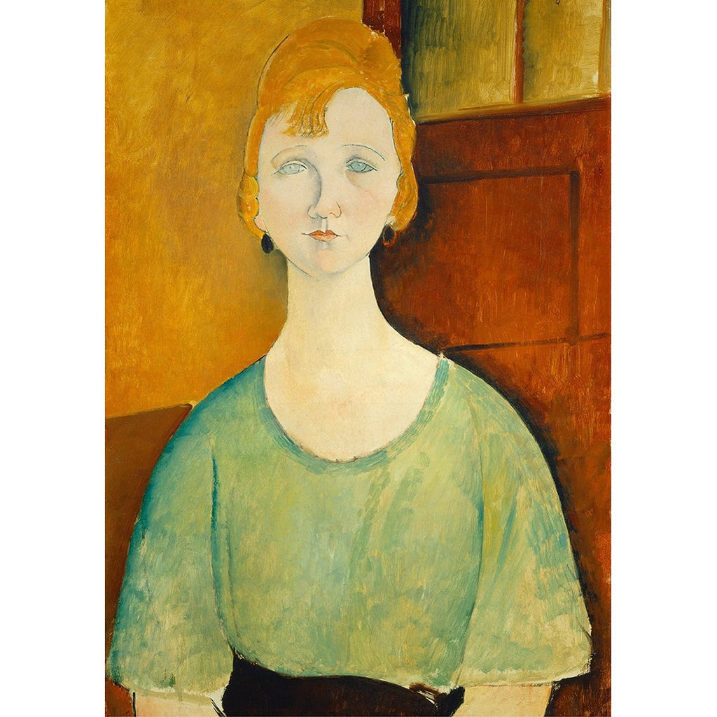 Woman in a green top