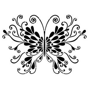 NCS-122 Butterfly stencil