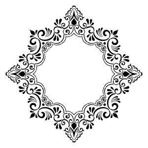 NCS-124 Decorative Frame Stencil