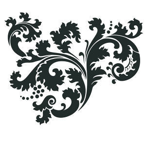 NCS-139 Leafy Scroll stencil