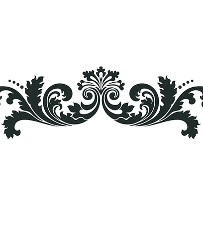 NCS-102 Leafy Scroll Stencil