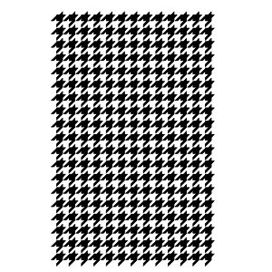 Medium Houndstooth stencil