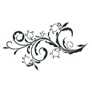 NCS-134 Ornate scroll stencil