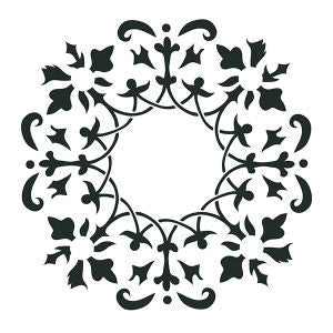 NCS-140 Wreath stencil