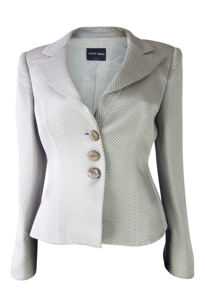 ARMANI Wool and Silk Blend Jacket (48)-Armani-The Freperie