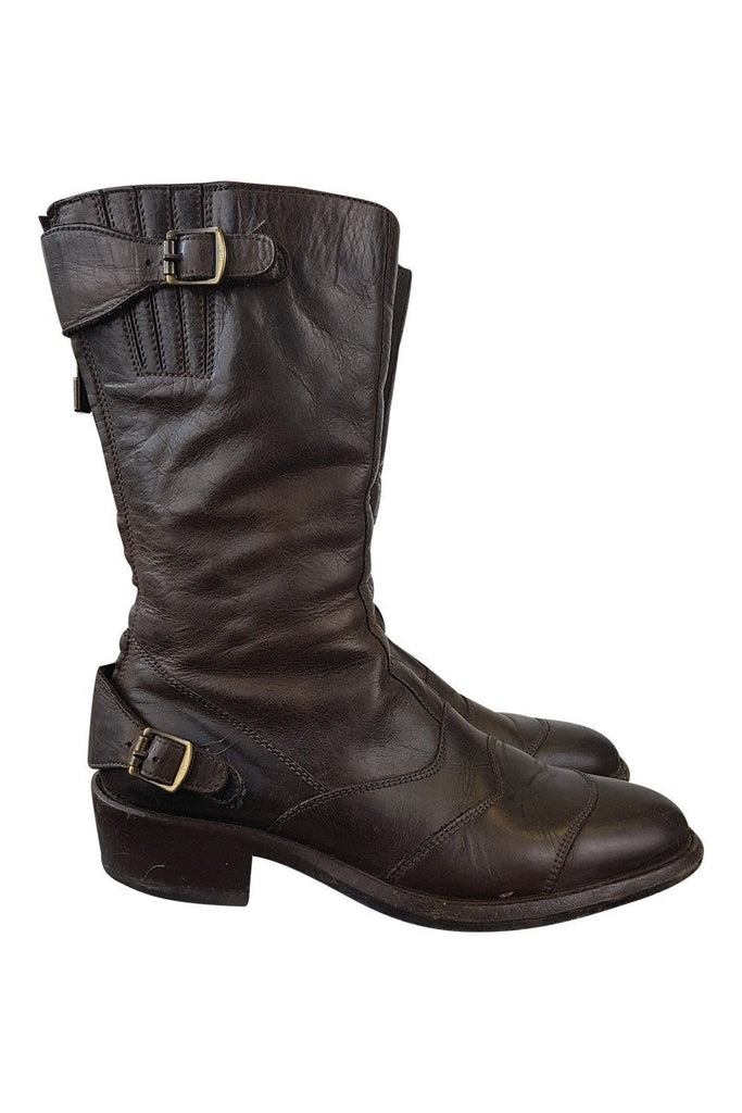 BELSTAFF Black Brown Roadmaster Boots (EU 38)-Belstaff-The Freperie